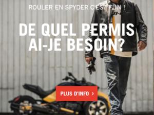 DE QUEL PERMIS AIS-JE BESOIN POUR CONDUIRE UN SPYDER